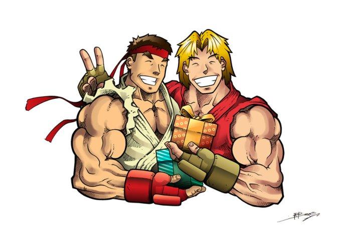 Ryu_e_Ken___Amigos_by_sergio_borges-2